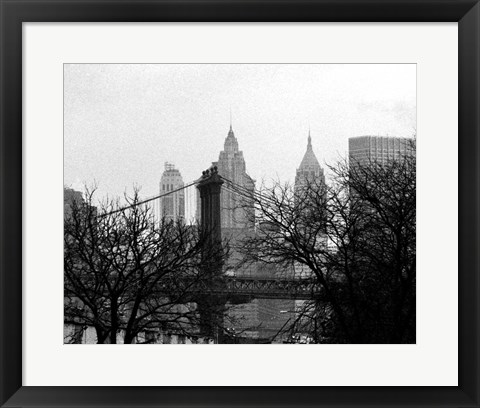 Framed Bridges of NYC V Print