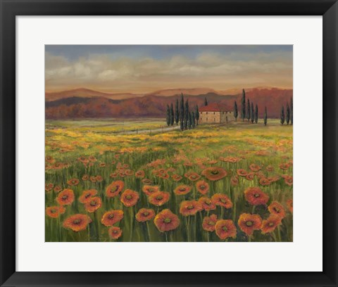 Framed Poppy Path to Home I Print