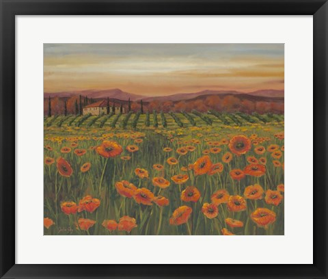 Framed Poppy Path to Home II Print
