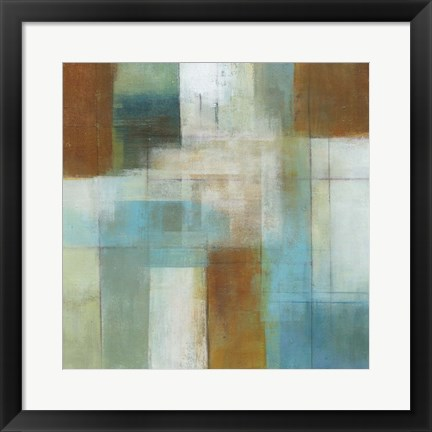 Framed Lake Blue Essence I Print