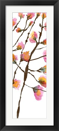 Framed Inky Blossoms II Print