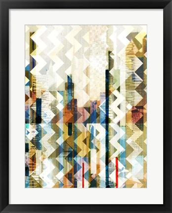 Framed Urban Chevron I Print