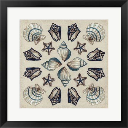 Framed Coastal Kaleidoscope I Print