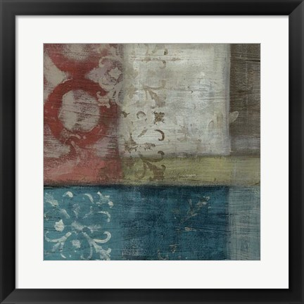 Framed Heritage Abstract I Print