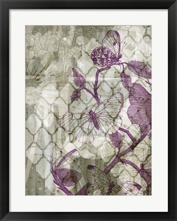 Framed Arabesque Butterflies IV Print