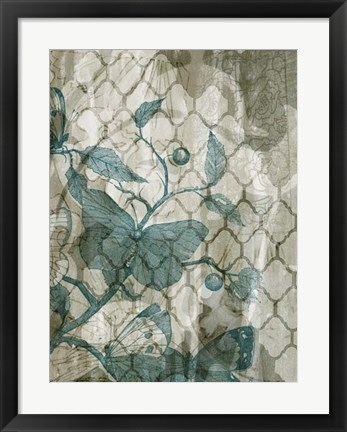 Framed Arabesque Butterflies V Print