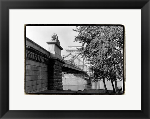 Framed Crossing the Danube River Print