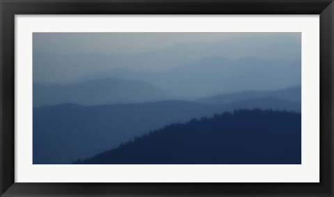Framed Blue Layers Print