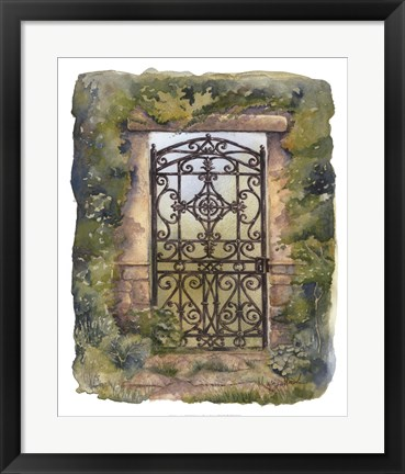 Framed Iron Gate III Print