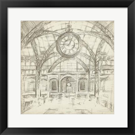 Framed Interior Architectural Study I Print