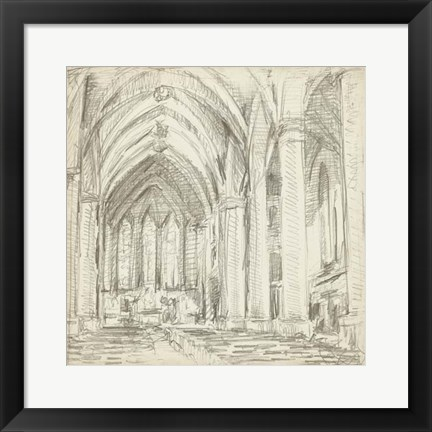 Framed Interior Architectural Study III Print