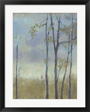 Framed Tree-Lined Wheat Grass I Print