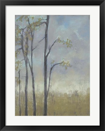Framed Tree-Lined Wheat Grass II Print