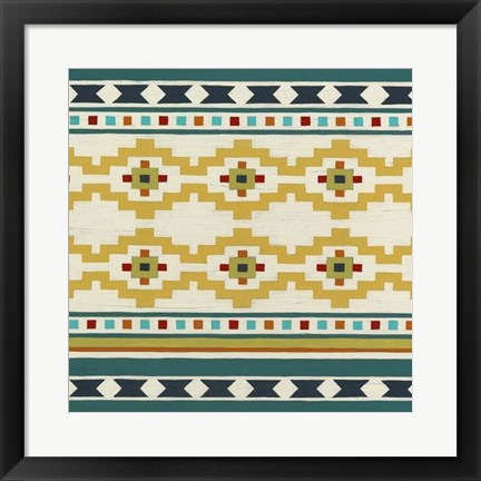 Framed Southwest Geometry III Print