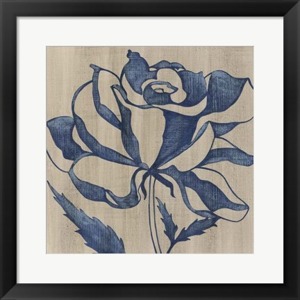 Framed Indigo Rose Print