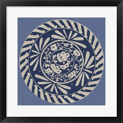 Framed Indigo Earthenware II Print