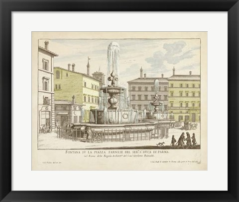 Framed Fountains of Rome IV Print