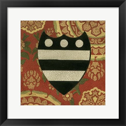 Framed Noble Crest III Print