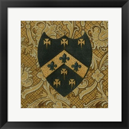 Framed Noble Crest IV Print