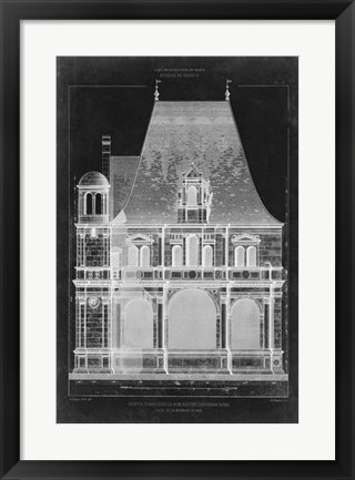 Framed Graphic Facade II Print