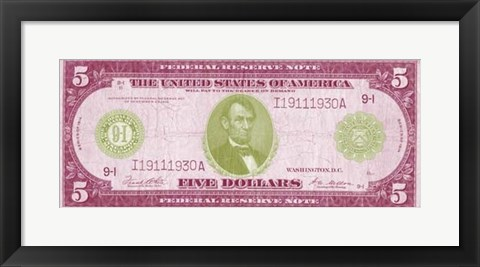 Framed Modern Currency II Print