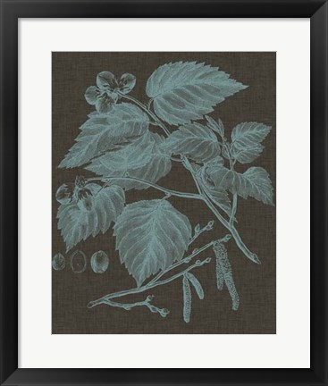 Framed Shimmering Leaves I Print