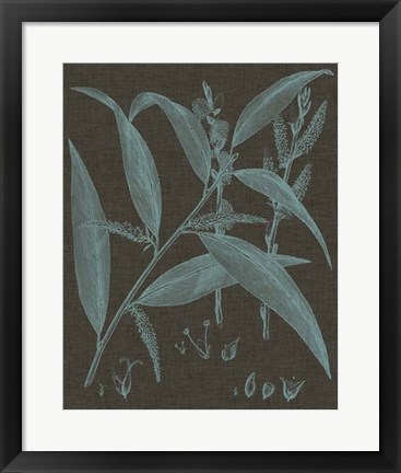 Framed Shimmering Leaves IV Print