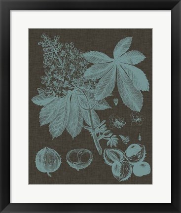 Framed Shimmering Leaves VI Print