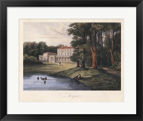 Framed English Countryside I Print
