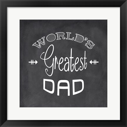Framed World's Greatest Dad - black Print
