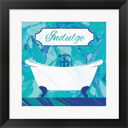 Framed Marbled Bath II Print