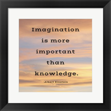 Framed Imagination quote Print