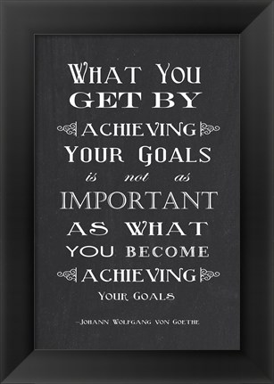 Framed Achieving Your Goals Print