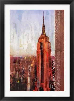 Framed Fifth Avenue and West 34th Street Print