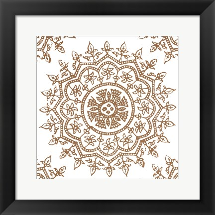 Framed Woodblock Pattern IV Print