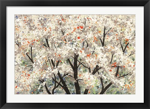 Framed Pear Blossoms in Spring Print