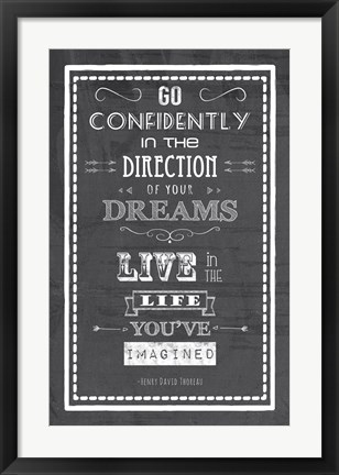Framed Direction of Your Dreams Print