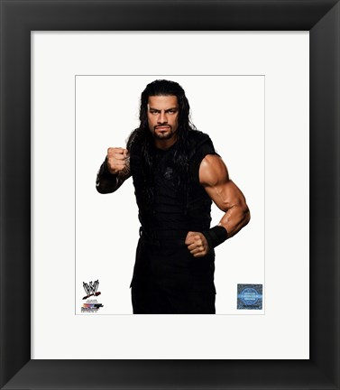 Framed Roman Reigns Wrestler Print