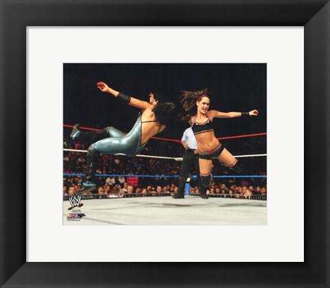 Framed Brie Bella 2014 Action Print