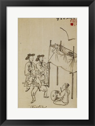 Framed Korean Puppet Show Print
