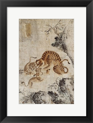 Framed Family of Tigers Print