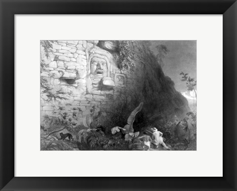 Framed Monument of the Ancient Mayan Race, Quirigua, Guatemala Print