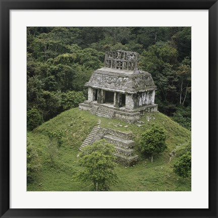 Framed Temple of the Cross Palenque Print