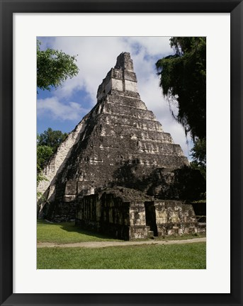 Framed Facade of the Temple of the Great Jaguar, Tikal Print