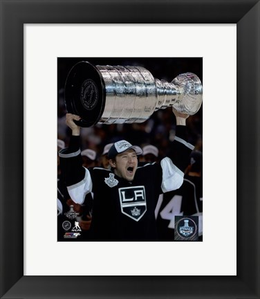 Framed Tyler Toffoli with the Stanley Cup Game 5 of the 2014 Stanley Cup Finals Print