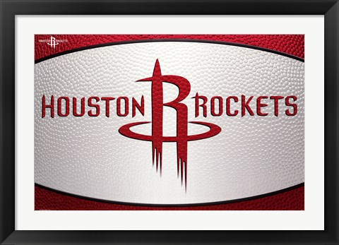 Framed Houston Rockets - Logo 14 Print