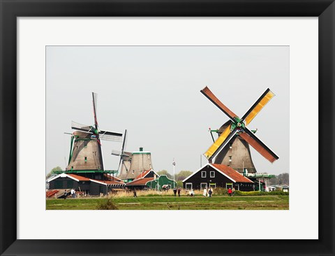 Framed Dutch Zaanse Schans Windmills Print