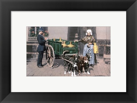 Framed Vintage Dutch Cart Print