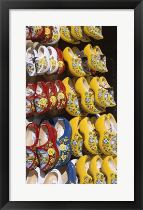 Framed Dutch Souvenir Store Selling Clogs Print