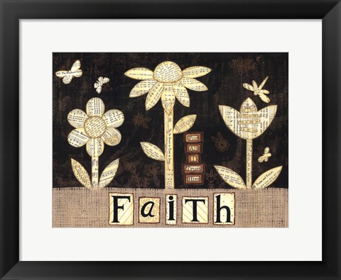 Framed Faith Flowers Print